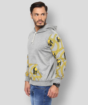 Yepme Wayne Hooded Sweatshirt - Grey