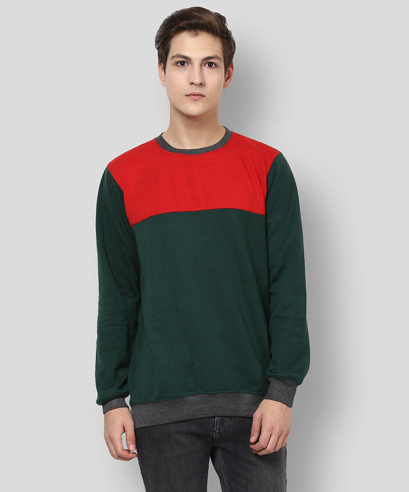 Yepme Darvin Sweatshirt - Red & Green
