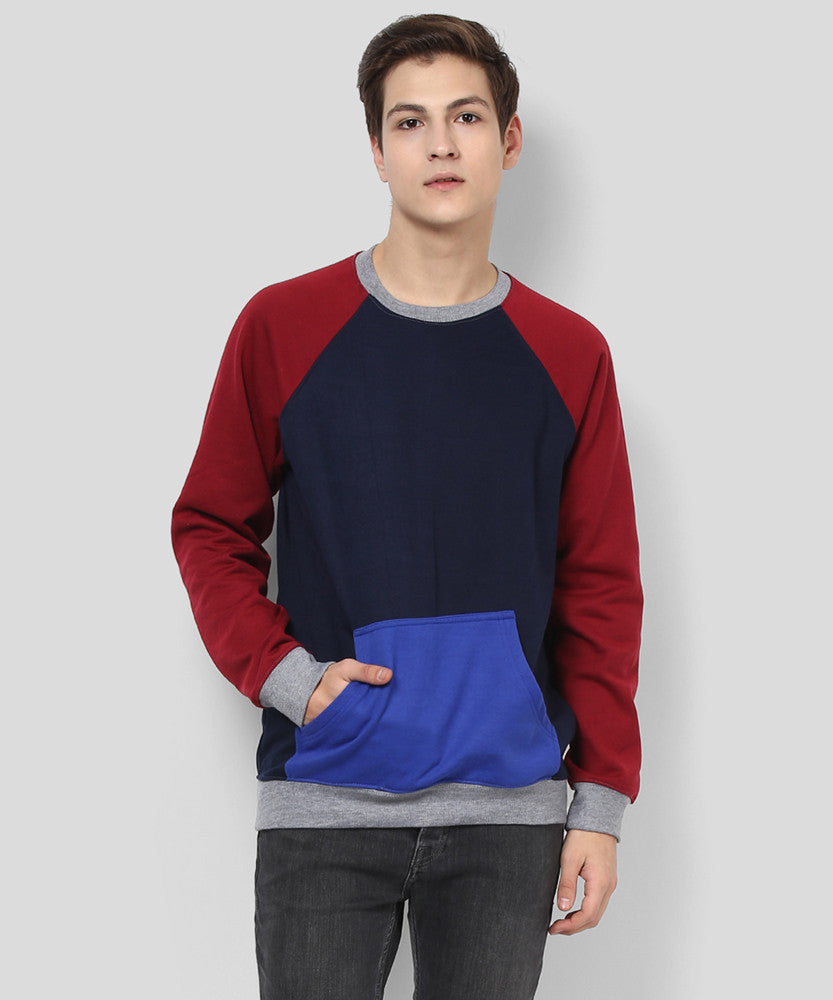 Yepme Marcell Sweatshirt - Blue & Red