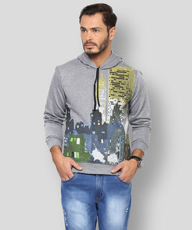 Yepme Dorric Hooded Sweatshirt - Grey