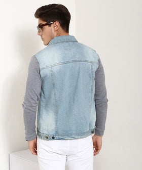 Yepme Franklin Full Sleeves Denim Jacket - Ice Wash