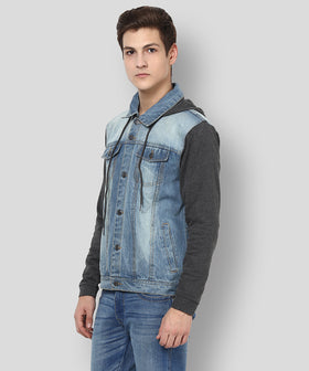 Yepme Phelps Full Sleeves Denim Jacket - Light Wash
