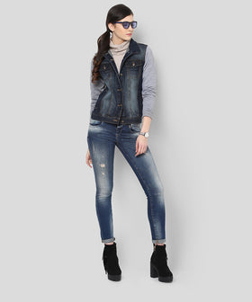 Yepme Tiffany Full Sleeves Denim Jacket - Blue