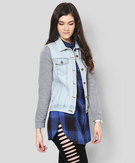 Yepme Tiffany Full Sleeves Denim Jacket - Ice Wash