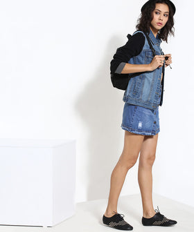 Yepme Kyra Full Sleeves Denim Jacket - Medium Wash