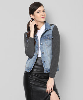 Yepme Carlie Full Sleeves Denim Jacket - Blue