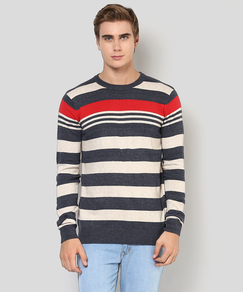 Yepme Carlos Sweater - Grey & Red