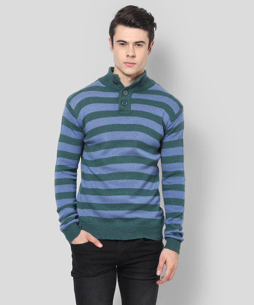 Yepme Rodriguez Sweater - Green & Blue