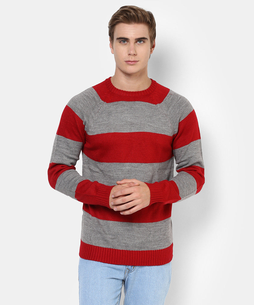 Yepme Henry Sweater - Red & Grey