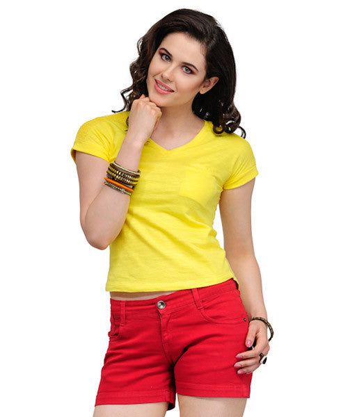 Yepme Becky Lace Aurora Yellow Top