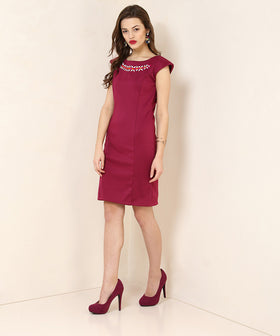 Yepme Leony Party Dress - Wine