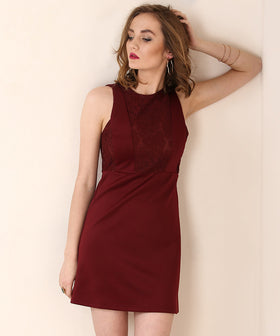 Yepme Mila Party Dress - Maroon