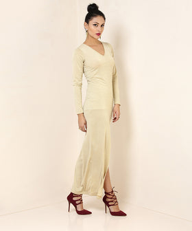 Yepme Camilla Party Dress - Golden