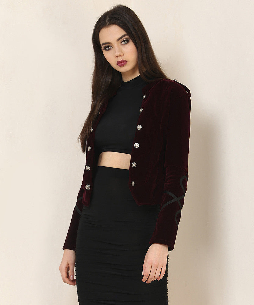 Yepme Ryana Party Jacket - Wine