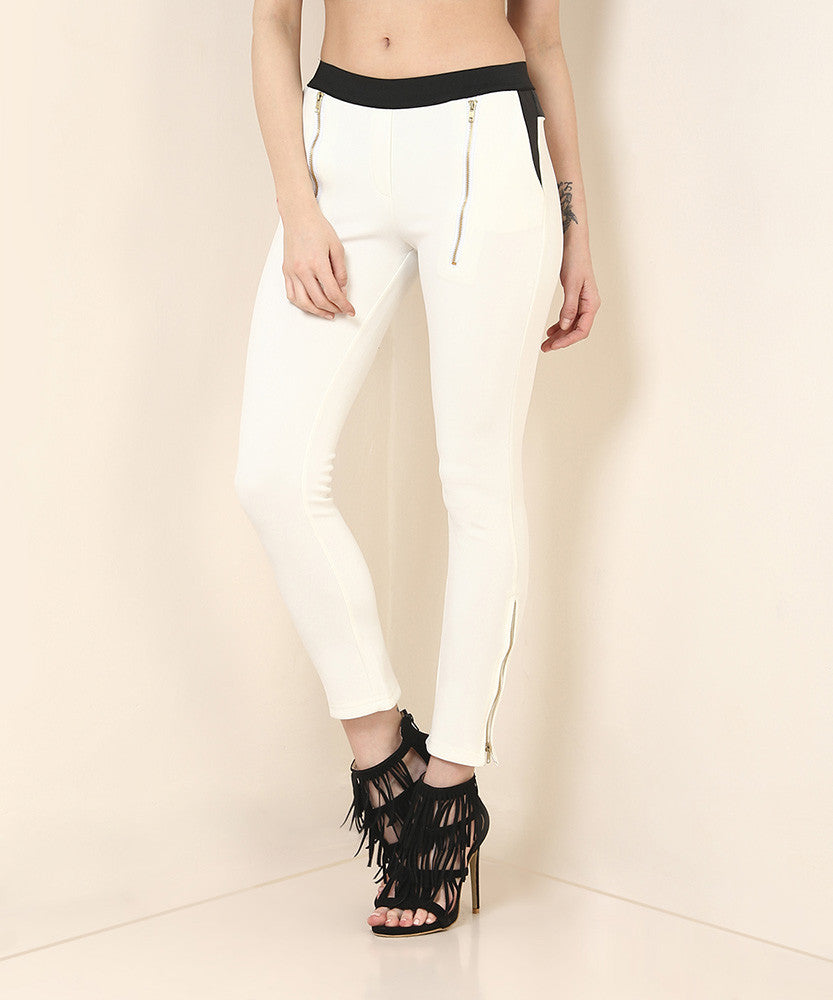 Yepme Emma Party Jeggings - White