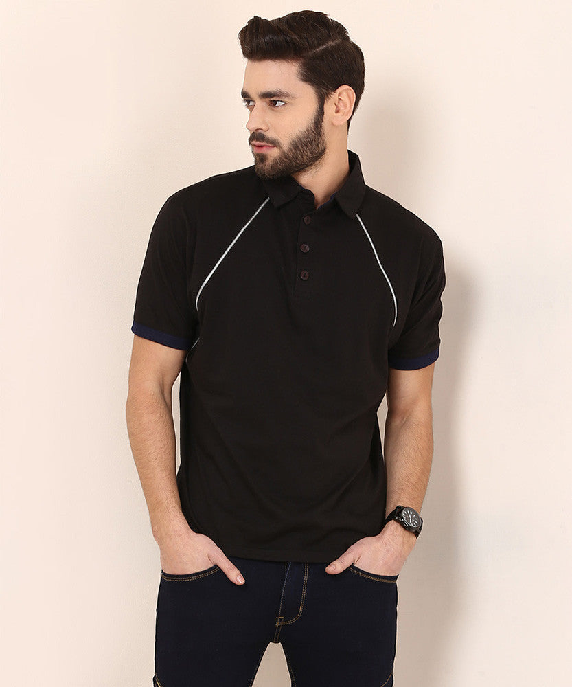Yepme Matthew Party Polo Tee - Black