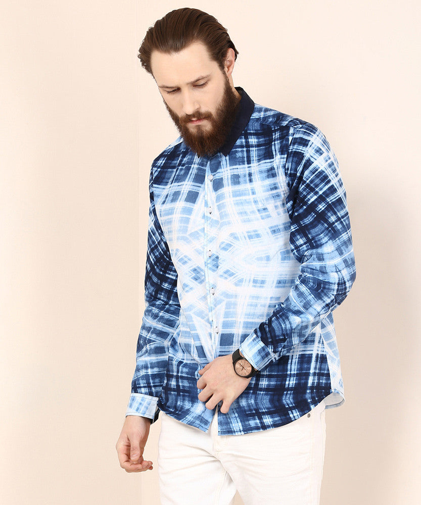 Yepme Morris Party Shirt - Blue & White