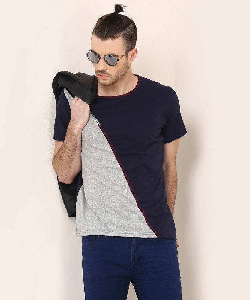 Yepme Corin Tee - Blue & Grey