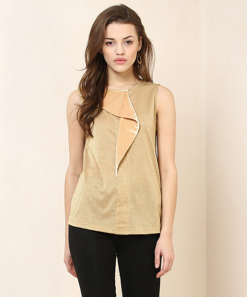 Yepme Mia Party Top - Golden & Beige