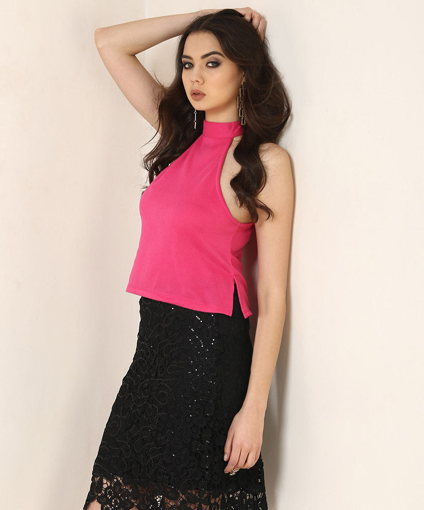 Yepme Emma Party Top - Fuchsia