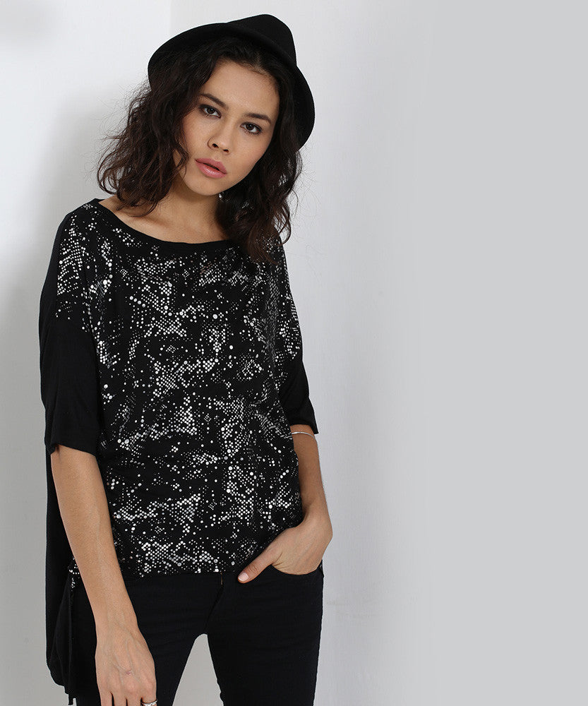 Yepme Asymmetrical Top - Black