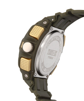 Yepme Men's Analog Digital Watch - Green/Yellow