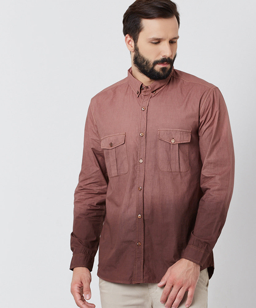 Yepme Marvin Solid Shirt - Brown