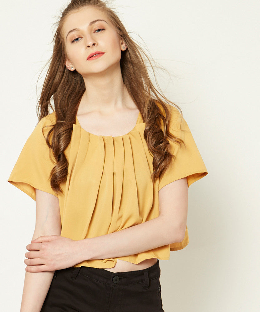 Yepme Samie Crop Top - Brown