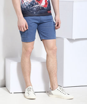 Yepme Cargo Solid Shorts - Blue