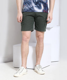 Yepme Cargo Solid Shorts - Green