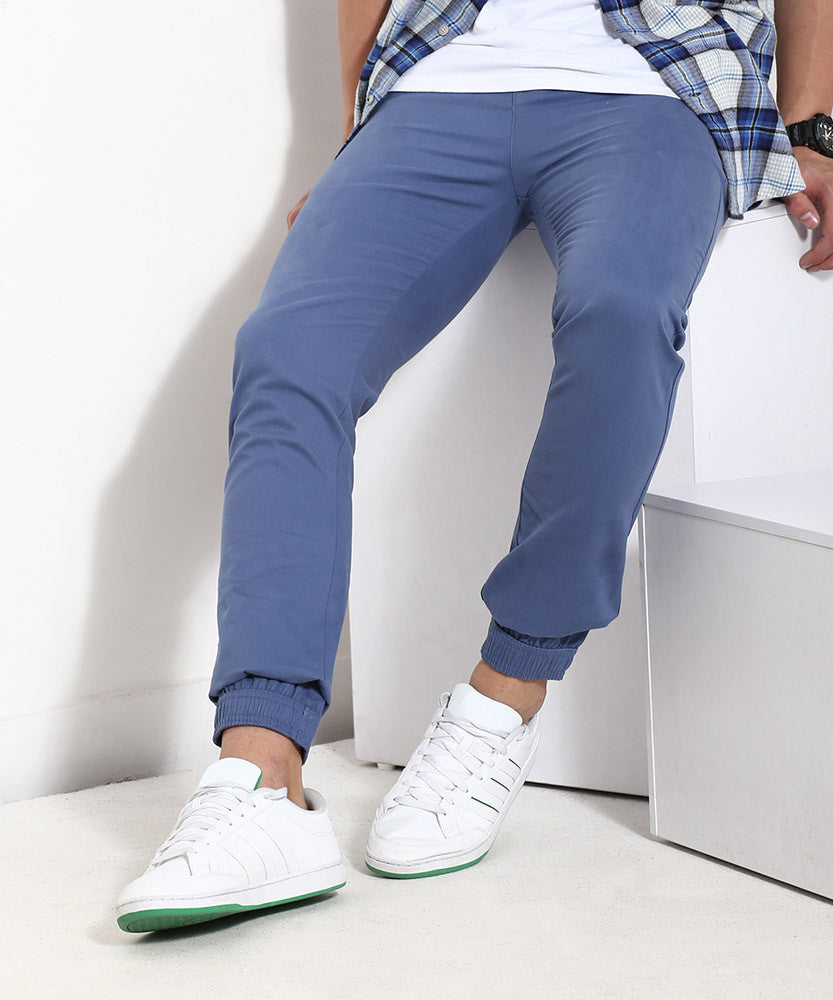 Yepme Solid Joggers - Blue