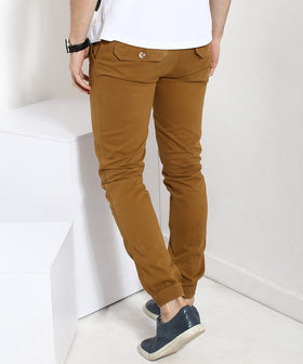 Yepme Solid Joggers - Brown