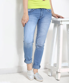 Yepme Ice Wash Denim - Blue