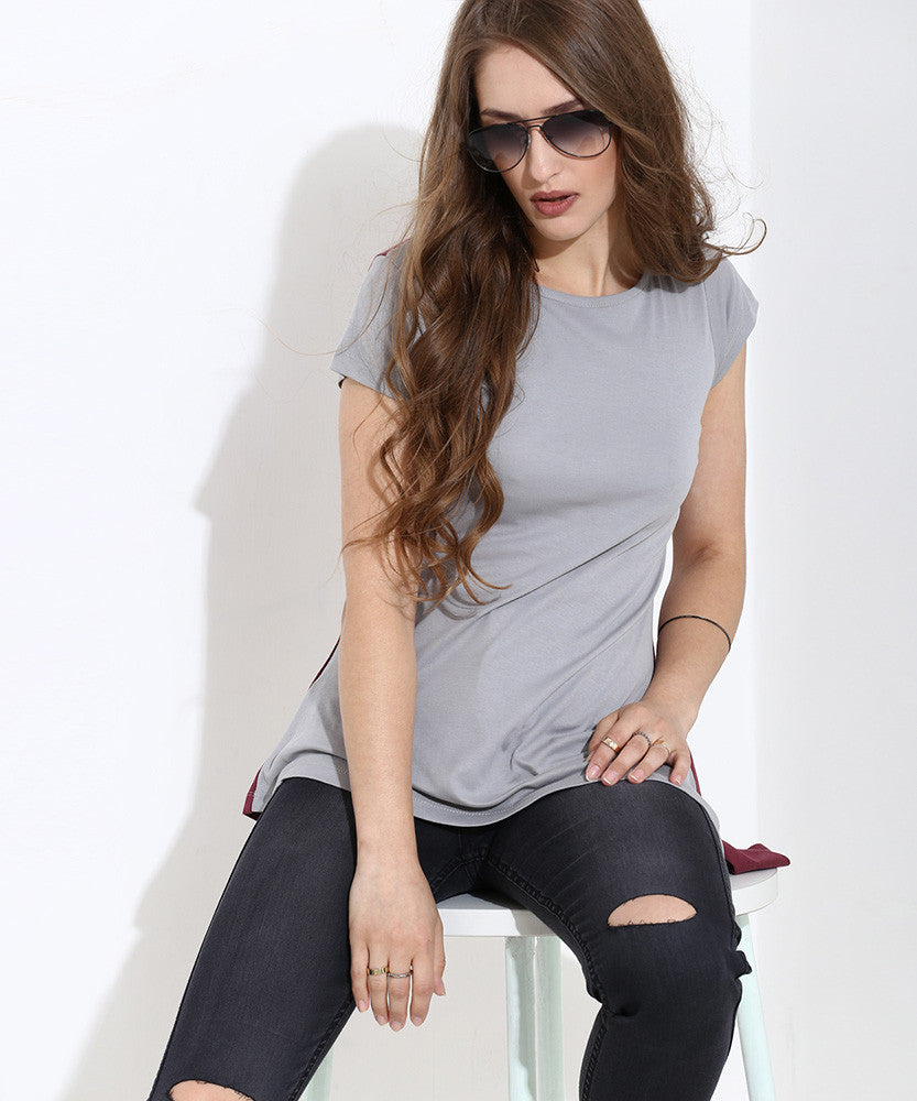 Yepme Doria Asymmetrical Top - Grey