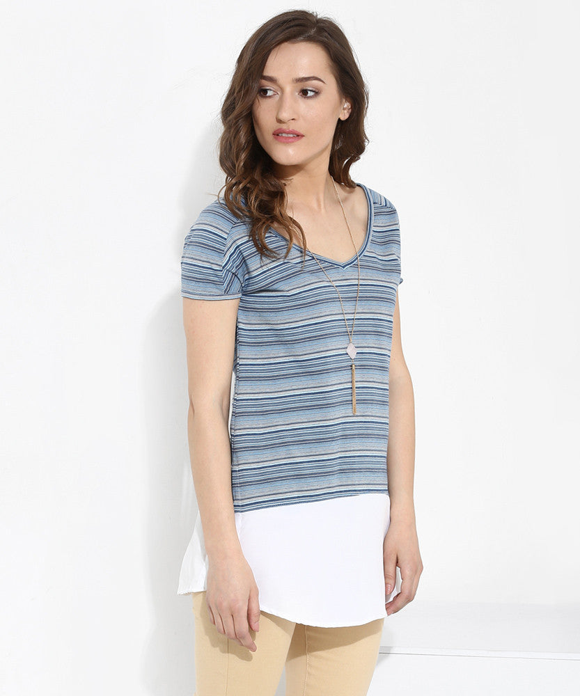 Yepme Celine Striped Top - Blue