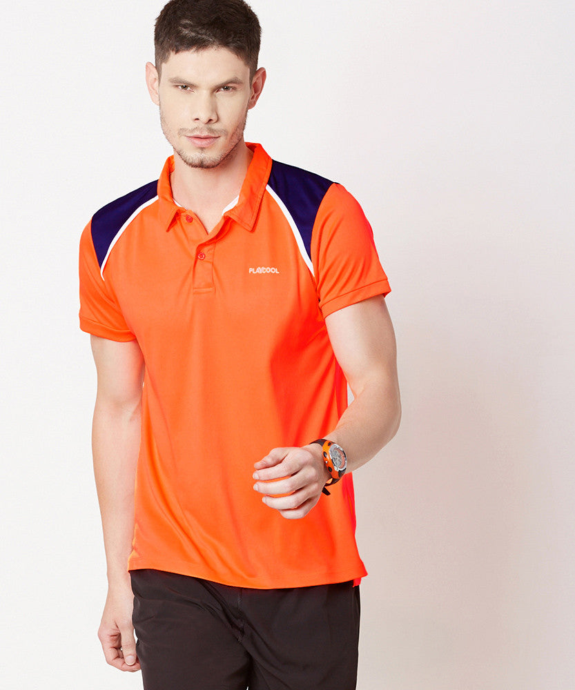 Yepme Scott High Performance Polo Tee - Orange