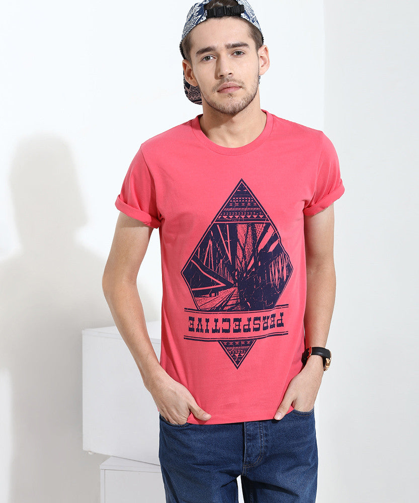 Yepme Perspective Graphic Tee  - Red