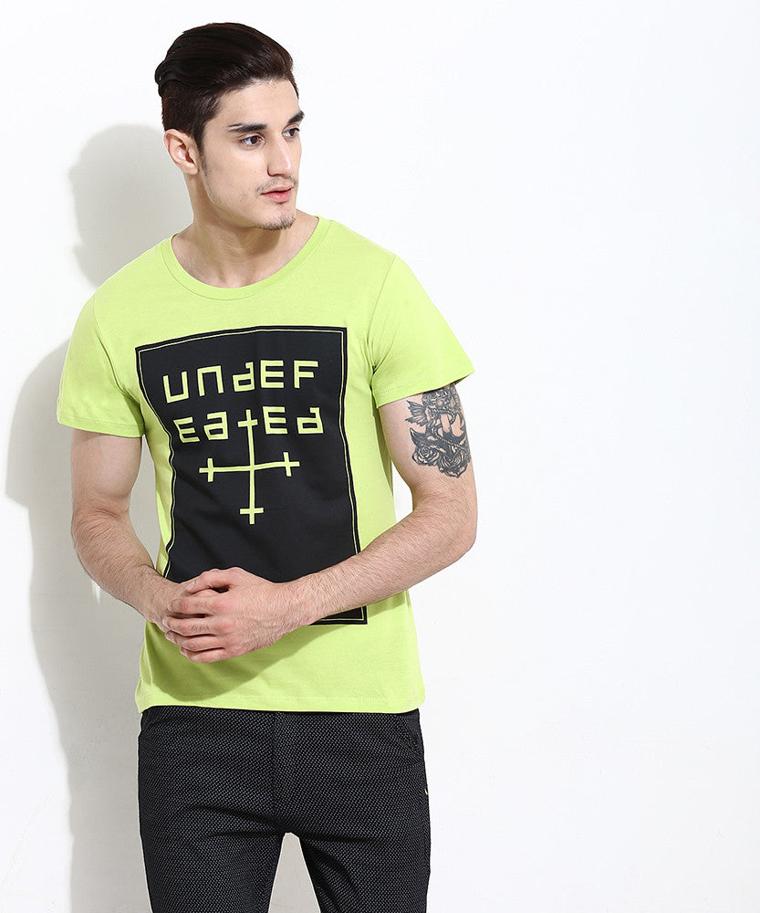 Yepme Undefeated Graphic Tee - Green