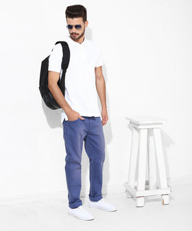 Yepme Rofler Drill Denim Pants - Blue