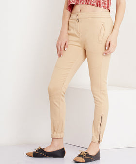 Yepme Cathryn Colored Joggers - Beige