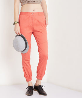 Yepme Cathryn Colored Joggers - Coral