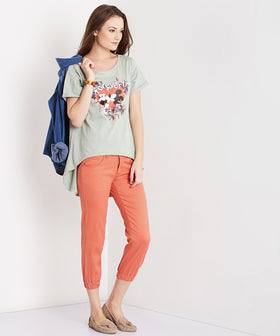 Yepme Stephy Colored Capri Joggers - Orange