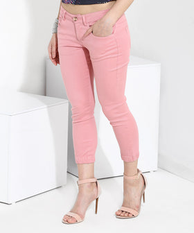 Yepme Stephy Capri Joggers - Peach