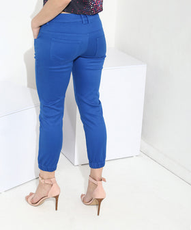 Yepme Stephy Capri Joggers - Blue