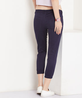 Yepme Stephy Colored Capri Joggers - Blue