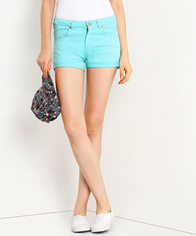 Yepme Jess Colored Shorts - Green