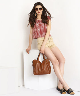 Yepme Jess Colored Shorts - Beige