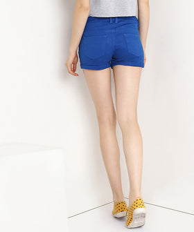 Yepme Jess Colored Shorts - Blue
