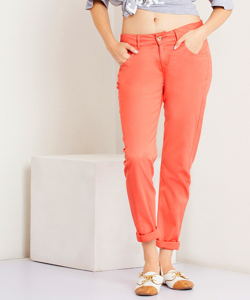 Yepme Torrie Colored Pants - Coral