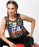 Yepme Amelie Ok Cool Crop Top - Black